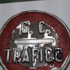 Carteles: CARTEL CHAPA ANTIGUA G.C TRÁFICO AÑOS 70 ESCASO. Lote 118612924
