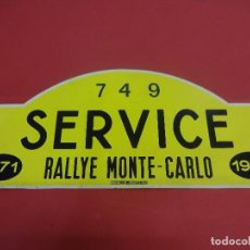 Carteles: CHAPA ORIGINAL RALLYE MONTE-CARLO 1971. MANILUX-MARSEILLE. 45 X 19,5 CTMS.. Lote 118825387