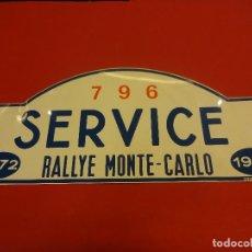 Carteles: CHAPA ORIGINAL RALLYE MONTE-CARLO 1972. MANILUX-MARSEILLE. 45 X 19,5 CTMS.. Lote 118825823