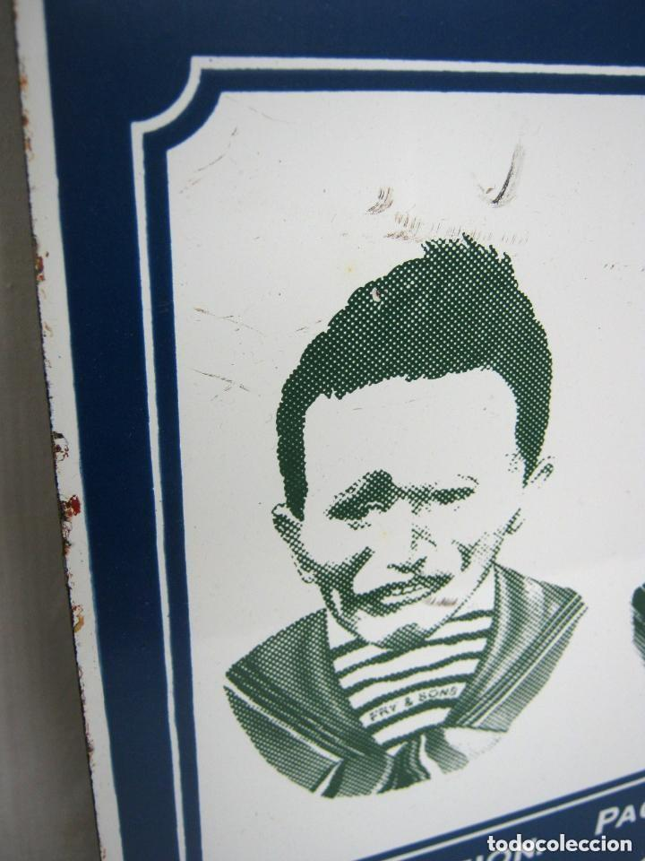 Carteles: 56 cm - Espectacular cartel chapa metal esmaltada litografiada 2.5 kg - Chocolate Frys - expresione - Foto 2 - 162542846