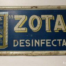 Carteles: CARTEL DE LATA ZOTAL DESINFECTANTE. Lote 120213059