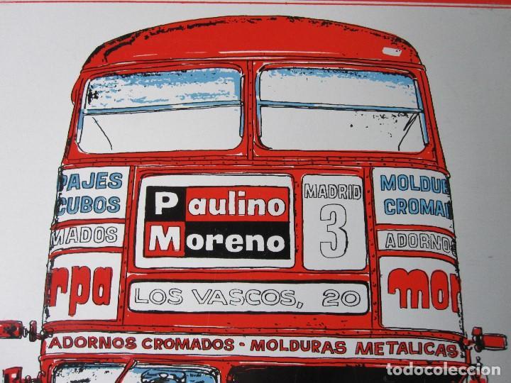 Carteles: CHAPA LITOGRAFIADA/ PUBLICIDAD PAULINO MORENO/ AÑOS 60 / PERFECTA¡¡¡¡¡ - Foto 4 - 121136579
