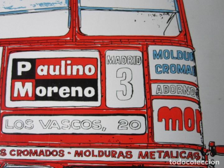 Carteles: CHAPA LITOGRAFIADA/ PUBLICIDAD PAULINO MORENO/ AÑOS 60 / PERFECTA¡¡¡¡¡ - Foto 6 - 121136579