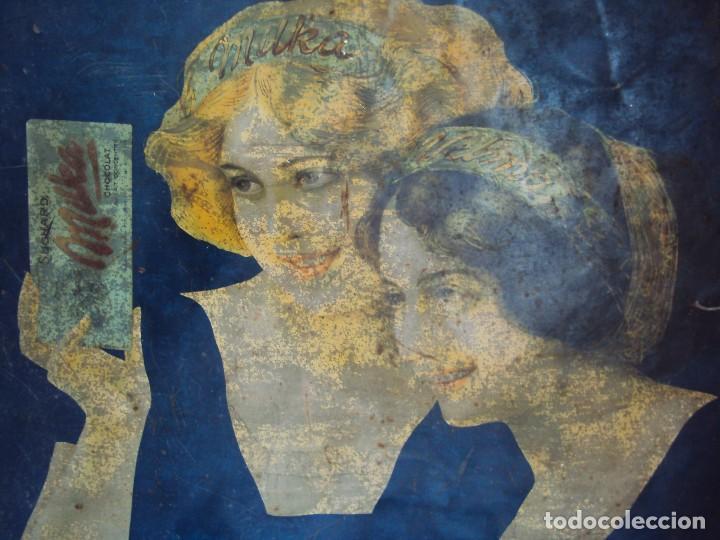 (PUB-180567)CARTEL DE CHAPA CHOCOLATE SUCHARD - MILKA (Coleccionismo - Carteles y Chapas Esmaltadas y Litografiadas)