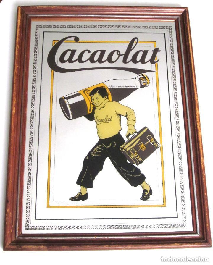antiguo espejo enmarcado madera publicidad caca - Comprar Carteles ...