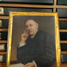 Carteles: CARTEL EN CHAPA OBSEQUIO DEL DR ANDREU SERIE HOMBRES CÉLEBRES BENITO PEREZ GALDÓS. 34 X 28 CM. Lote 122089571