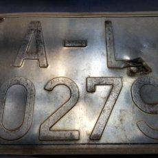 Carteles: MATRÍCULA CHAPA DE ALICANTE AÑOS 70-80. Lote 122919707
