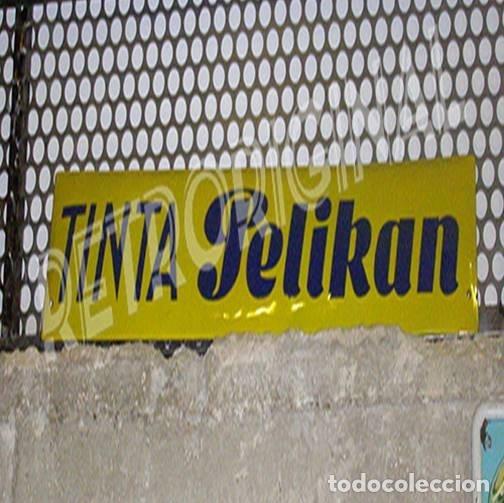 Carteles: Placa Tinta Pelikan Original de 1950s. Esmaltada. - Foto 2 - 113388823