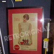 Carteles: ANTIGUO CARTEL COCA-COLA ESPAÑOL. SEIX BARRAL, ORIGINAL 1960S. TOME COCA-COLA. Lote 124193463