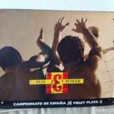 Carteles: CARTEL LETRERO CHAPA WHISKY J&B. CAMPEONATO DE ESPAÑA VOLEY PLAYA.. Lote 124235531
