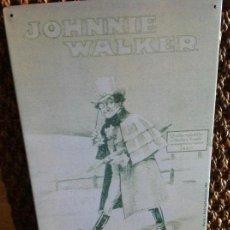 Carteles: PLACA CHAPA PUBLICIDAD WHISKY JOHNNIE WALKER. AÑO 1996. Lote 124235795