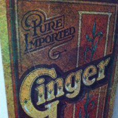 Carteles: CARTEL SPICY GINGER PURE IMPORTED. AÑO 1979 PRENTON INDUSTRIES.. Lote 124253903