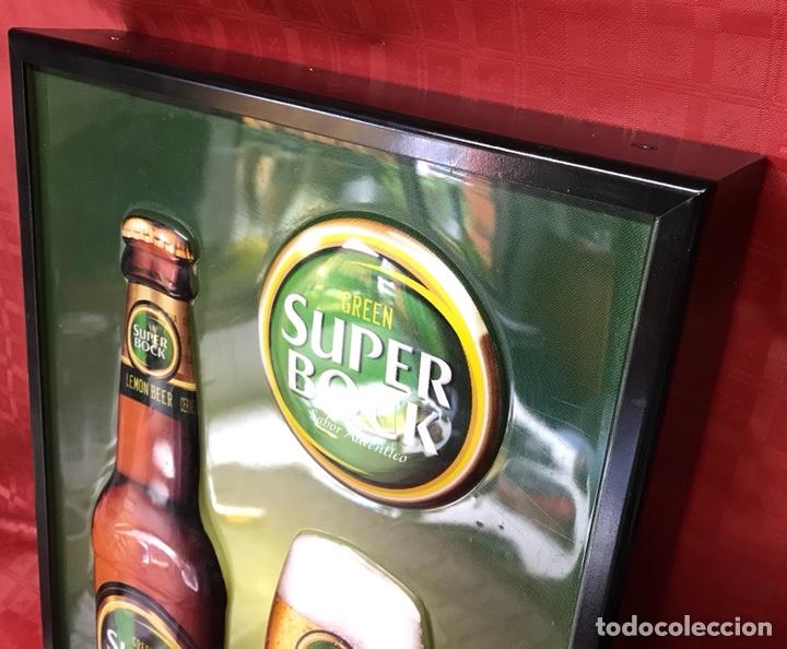 Carteles: Cartel luminoso de cerveza Súper Bock con relieves de 50 X 35 X 7,5 cm. Funcionando - Foto 4 - 124273591
