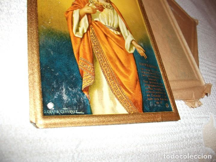 Carteles: Chapa Sagrado Corazon de Jesus, bendecire las casas, mide 15 x 11,5 cm. J. Garcia Gutierrez - Foto 2 - 126197591