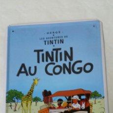 Carteles: CARTEL (CHAPA) DE TINTIN AU CONGO. Lote 126567859