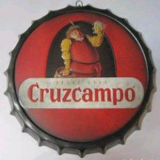Plakate - Cartel publicitario de metal cerveza cruzcampo - 126771570