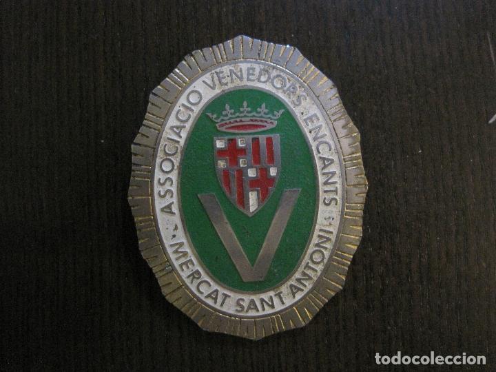 Carteles: CHAPA - ASSOCIACIO VENEDORS ENCANTS - MERCAT SANT ANTONI -BARCELONA -VER FOTOS-(V-14.874) - Foto 2 - 126895079