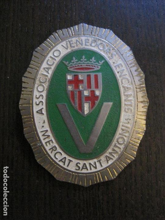 Carteles: CHAPA - ASSOCIACIO VENEDORS ENCANTS - MERCAT SANT ANTONI -BARCELONA -VER FOTOS-(V-14.874) - Foto 3 - 126895079