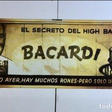 Carteles: ANTIGUA CHAPA OFICIAL DE PUBLICIDAD DE BACARDI. MUY RARA. Lote 126969987