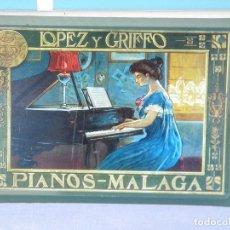Carteles: CARTEL DE METAL COLECCIÓN LOS ANUNCIOS DE TU VIDA, PIANOS LÓPEZ & GRIFFO. Lote 127450211