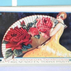 Carteles: CARTEL DE METAL COLECCIÓN LOS ANUNCIOS DE TU VIDA, ABANICO GRANDE. Lote 127450263