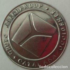 Carteles: CHAPA SEGUROS GRUPO ASEGURADOR CATALANA OCCIDENTE. Lote 127520327