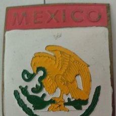 Carteles: CHAPA METALICA DE COCHE DE MEXICO. Lote 127520767