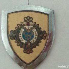 Carteles: CHAPA METALICA DE COCHE AGENTE COMERCIAL DE SEGUROS. Lote 127556415