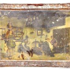Carteles: CHAPA PLACA CARTEL PUBLICIDAD COSTUMBRES ARAGONESAS ANSOTANA. CHOCOLATES JOSÉ Mª AZANZA ZARAGOZA . Lote 127614899