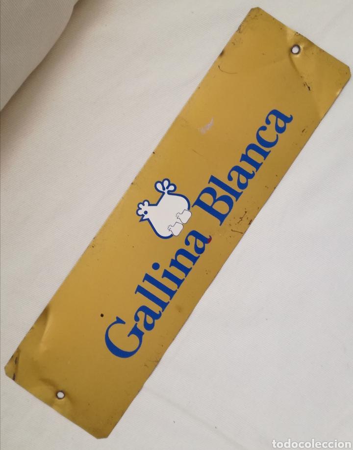 Carteles: Cartel Hojalata Gallina Blanca. - Foto 3 - 127882898