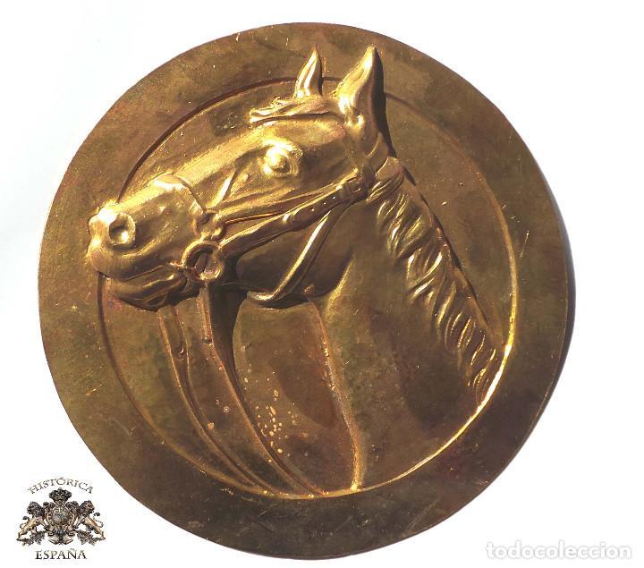 CHAPA CABEZA DE CABALLO 10,5 CM DE DIÁMETRO (Coleccionismo - Carteles y Chapas Esmaltadas y Litografiadas)