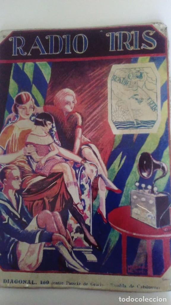 CHAPA LITOGRAFIADA PUBLICITARIA RADIO IRIS 41 CM X 29 CM (Coleccionismo - Carteles y Chapas Esmaltadas y Litografiadas)