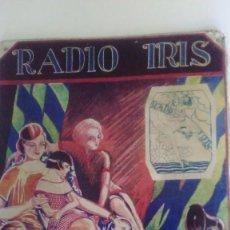 Carteles: CHAPA LITOGRAFIADA PUBLICITARIA RADIO IRIS 41 CM X 29 CM. Lote 128464351
