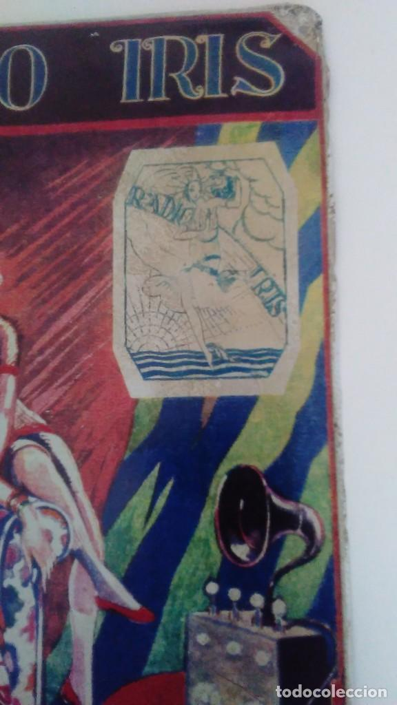 Carteles: Chapa litografiada publicitaria Radio Iris 41 cm x 29 cm - Foto 3 - 128464351
