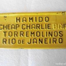 Cartazes: ANTIGUO CARTEL DE CHAPA PUBLICIDAD DE BAR. Lote 156550889