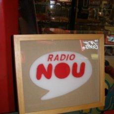 Carteles: CARTEL RADIO NOU DE RTVV. ESTABA EN RECEPCIÓN ANTIGUOS ESTUDIOS DE RADIO NOU EN VALENCIA. ÚNICO. Lote 130317534