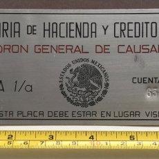 Carteles: CHAPA SECRETARIA DE HACIENDA Y CRÉDITO PÚBLICO - PADRÓN GENERAL CAUSANTES - ESTADOS UNIDOS MEXICANOS. Lote 130351496