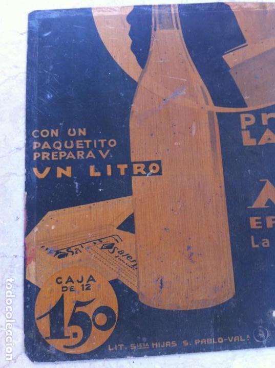 Carteles: Cartel Sales Minerales Agua de Mesa Efervescente. Modernista. Años 20-30 - Foto 3 - 130777416