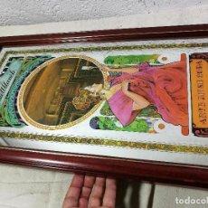 Carteles: ESPEJO LITOGRAFIADO AÑOS 70-80 CAVAS CASTELLBLANCH ARTE EN SU COPA. 35 CM X 67 CM . Lote 131492566
