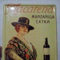 Carteles: CARTEL METAL: MACARENA MANZANILLA EXTRA (ABLN). Lote 131500730