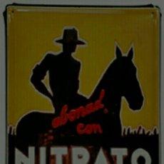 Carteles: CARTEL DE METAL NITRATO DE CHILE. Lote 132351899