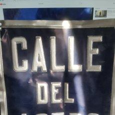 Carteles: CARTEL CALLE DEL ACERO. Lote 132399865