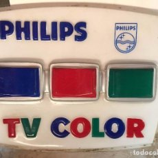 Carteles: LUMINOSO PUBLICIDAD TV COLOR PHILIPS. Lote 132555834