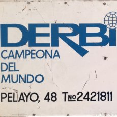 Carteles - Antiguo y Gran Cartel Chapa Moto DERBI. - 132714606