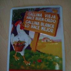 Carteles: CHAPA VINTAGE PUBLICIDAD GALLINA BLANCA. Lote 195107277