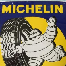 Carteles: CHAPA METÁLICA MICHELIN - EN RELIEVE - PRECINTADA - 26 X 21 CMS. Lote 157136097