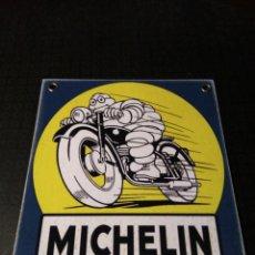 Carteles: CHAPA MICHELIN DE HIERRO. Lote 134133086