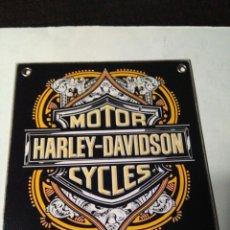 Carteles: HARLEY DAVIDSON CHAPA DE HIERRO. Lote 134133369