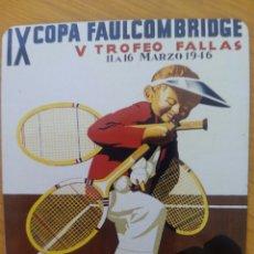 Carteles: PLACA METÁLICA DEL CARTEL DE LA X COPA DE TENIS FAULCOMBRIDGE,. Lote 134579895