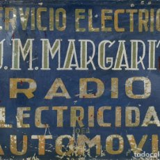 Carteles: CARTEL PUBLICITARIO DE HOJALATA. ESMALTADO. J.M. MARGARIT. SIGLO XX. . Lote 135424454